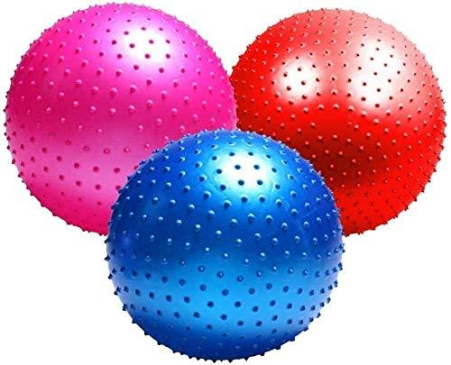TGBY Yoga Ball Verdickung explosionsgeschützte 75 cm, Farbe: blau, Größe: 55 cm, Farbe: Yoga Ball Fitness Fitness Ball Stand 220 lbs Pilates Fitness Balance, Größe Training Massage Ba