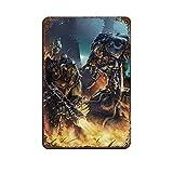 Warhammer 40k Orcos y Legiones Humanas Gamev ArtTin Cartel vintage de metal Pub Club Cafe bar Home Wall Art Decoración Poster Retro 20 × 30 cm