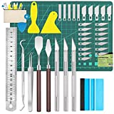39 Pcs Vinyl Weeding Tools Stainless Steel Plotter Accessories HTV + 1 Piece Storage Bag, DIY Craft Tool Set,Craft Knives Set for Weeding Vinyl, Silhouettes, Cameos, DIY Art Work Cutting,Scrapbook…