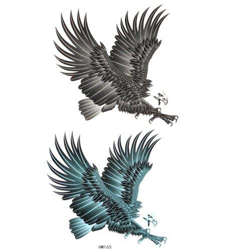 GGSELL Couleur du cheval roi et imperméable à l'eau de tatouage autocollants animaux aigle en plein vol
