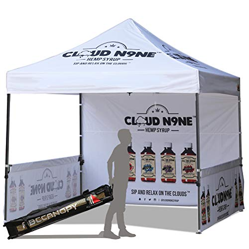 ABCCANOPY Deluxe Pop up Tents with Logo 10x10 Promotional Booth Tents Custom Pop up Tents Bouns 4X Weight Bag
