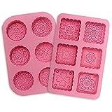 Amison 2pcs 6 Hohlräume Silikonform Seifenformen Silikon Seifenform für Seife, Backen