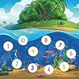 Arco de juegos para recompensa para el lavado de manos para niños, animales marinos con peces
