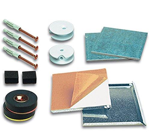 Spiegelbefestigung Magnetset SafemaX 08 für Spiegel bis 0.8 m² bei 6 mm Dicke