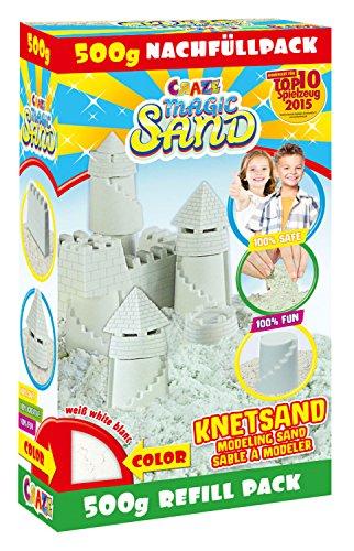 Craze 52670 - Magic Sand Refill-Pack., ca. 500g Sortierte Farben