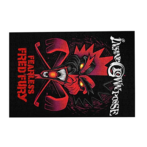 """JIECARKO Insane Clown Posse Fearless Fred Fury 300 Large Pieces Jigsaw Puzzle for Adults and Kids Wooden Puzzle for Fun Game Colorful Toys Home Decor 15.07""""x 10.23"""""""