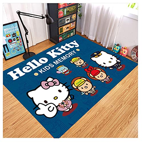 WPCheng Alfombra Hermoso Gato Hello Kitty Alfombra Suave Antideslizante para Decoración del Hogar Impresa En 3D V-1302H 140X200Cm