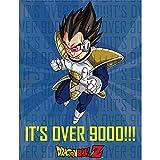 Great Eastern Entertainment Dragon Ball Z Anime Vegeta It's Over 9000!!! Sublimation Throw Blanket