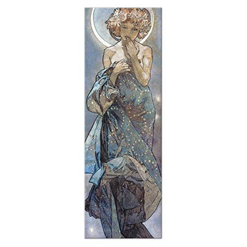 Wandkings Leinwandbild 'Der Mond' von Alfons Mucha / 30 x 90 cm / auf Keilrahmen