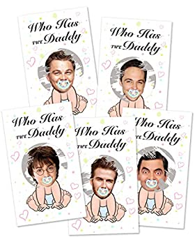 Baby Shower Games - Door Prizes Celebrity Cards Lottery Tickets Games for Girls - Funny Lottery Card Ice Breaker Scratch Off Games Party - 40 Sheets
