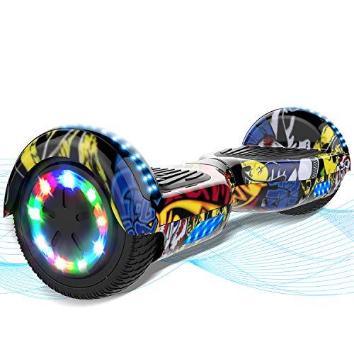 MARKBOARD Hoverboard, Hoverboard Bambini, Hoverboard Elettrico Scooter da 6,5 Pollici, Hoverboard con Ruote Luminose Bluetooth e Altoparlante, Regali per Bambini dagli 8 ai 12 Anni
