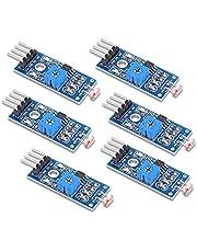 PEMENOL Módulo de resistencia fotográfica G5516, 4 conexiones, sensor de luz, módulo LM393 Dual Comperator, sensor de luz diurna / sensor de fotos para Arduino, Raspberry Pi