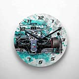 gasoline.gallery Wanduhr - Lewis Hamilton - Mercedes - 2019 29cm