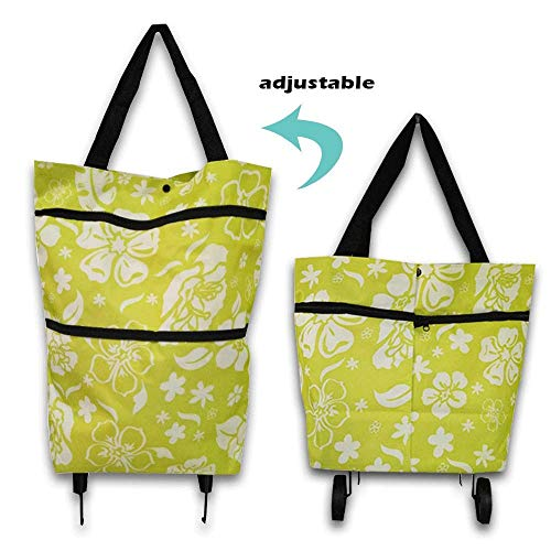 BTYAY Reusable Grocery Tote Bag Shopping Cart with Wheel Washable Best Foldable Heavy Duty Large Eco Useable Cloth Shopping Bags