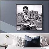 AS65ST12 Arte Keldog Pósteres Láminas de boxeo Muhammad Ali Gran Cartel de la estrella Arte de la pintura del cartel Imprimir hogar de la lona cuadro de la decoración de la pared impresiones-50x50cm N