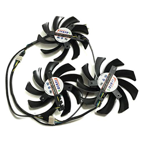Miwaimao Sapphire R9 290X/390/390X GPU VGA Cooler Fan for Sapphire R9-290X 4G R9 390 8G Pro R9 390X 8G D5 Tri-X Video Card Replacement
