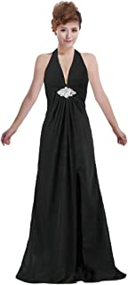 Best v neck halter gown with sash Reviews