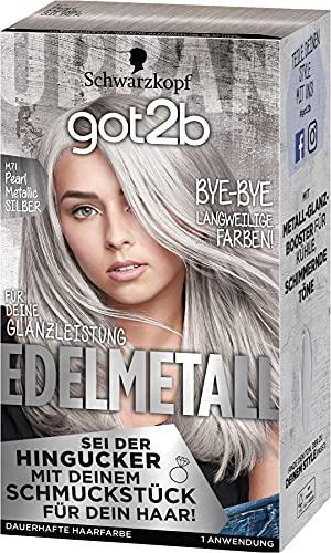 got2b Edelmetall Haarfarbe, M71 Pearl Metallic Silber, 3er Pack (3 x 197 ml)