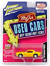 Johnny Lightning JLCP7084-24 New Diecast Toys Car 1: 64 Mijo's Used Cars - 1977 Chevrolet Camaro (Weathered Yellow with Black Stripes) - Mijo Exclusives