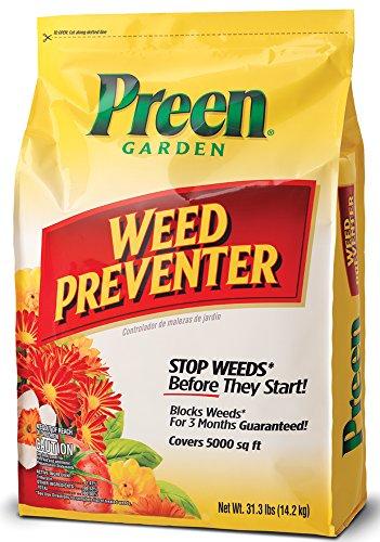 Preen 2464083 Garden Weed Preventer - 31.1 lb. - Covers 5,000 sq. ft