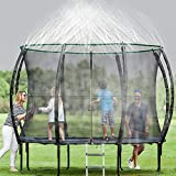 Flantor Trampoline Sprinkler,50ft Trampoline Spray Water Park Fun Summer Outdoor Water Game Toys Trampoline Accessories,Sports & Outdoor Play Sprinklers Pools & Water Toys for Kids