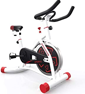 Exercise Bike - Quiet Indoor Cycling Bike - Stationary Cycle Bike with Tablet Holder & Comfortable Seat Cushion - Gym Mach...