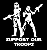 UR Impressions Storm Troopers Support Our Troops Decal Vinyl Sticker Graphics for Cars Trucks SUV Van Wall Window Laptop|White|5.5 X 5.3 inch|URI211