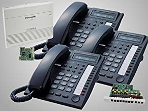 $675 » 3 Panasonic KX-T7730 Black Phones + Panasonic KX-TA824 Phone System with KX-TA82483 3x8 Expansion and KX-TA82493 Caller ID Card