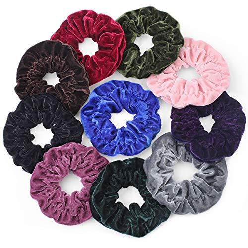 Gelite 10-Piece Largest Scrunchies for Hair Super Big Velvet Scrunchies for Girls Women