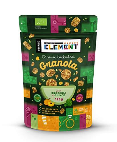 Bio-Superfood Müsli Snacks - Buchweizen Müsli Köstlichkeiten Ballaststoff Snacks - Glutenfrei Frühstück Müsli Happen - 125g Zip-lock (Brokkoli, Quitte)