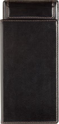 キングジム レザフェス 伝票挟み (カバー付き) A5E 1952LF 黒