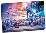 Lienzo decorativo de 76 x 50,8 cm y diseño con todos los personajes de Star Wars