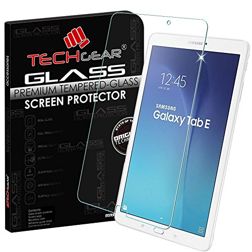 TECHGEAR Screen Protector for Galaxy Tab E 9.6 Inch (SM-T560 / SM-T561 / SM-T565) - GLASS Edition Genuine Tempered Glass Screen Protector Guard Cover