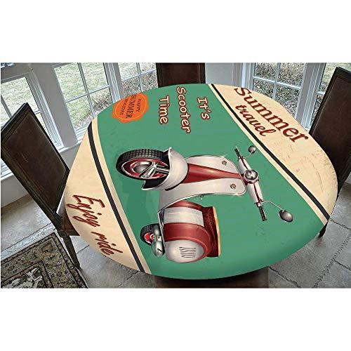 Nappe élastique en polyester avec bords élastiques, pour moto, voyage, estival, ville, hipster - Convient pour les tables Oval/Olbong 61 x 122 cm - Pour printemps/été/fête/pique-nique