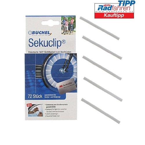 Büchel Speichenreflektoren Seku Clips, StVZO zugelassen, 3M Scotchlite Material, 360 Grad Sichtbarkeit