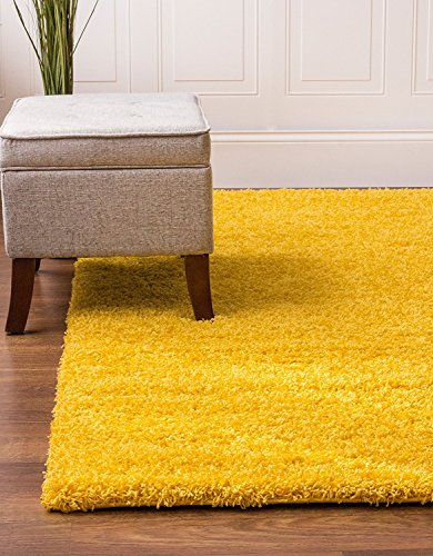 BRAVICH RugMasters Yellow Mustard Extra Extra Large Rug 5 cm Thick Shag Pile Soft Shaggy Area Rugs Modern Carpet Living Room Bedroom Mats 240 x 330 cm (8' x 10'10), BRAV-SGY-CAL-YL-240330