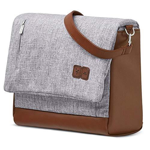 ABC Design Wickeltasche Urban - Crossbody Bag mit Baby Zubehör – Messenger Bag - großes Hauptfach - breiten Schultergurt - Polyester - Farbe: graphite grey