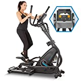 Capital Sports Helix Star MR - Ellittica, Cross Trainer, Magnetic Bike, Cyclette con Training Computer, Bluetooth, Integrazione App, Volano 21 kg, Supporto Tablet, Nero