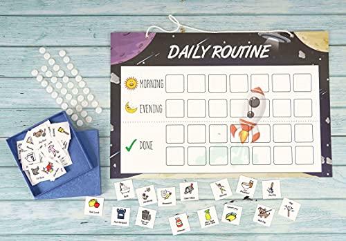 Inkdotpot Kinder Täglich Verantwortung Checkliste, Chart- Kinder Job Plakat- Morgens/Abends Täglich Routine Tägliche Aufgabenliste-Opu Hängen Lästige Pflicht