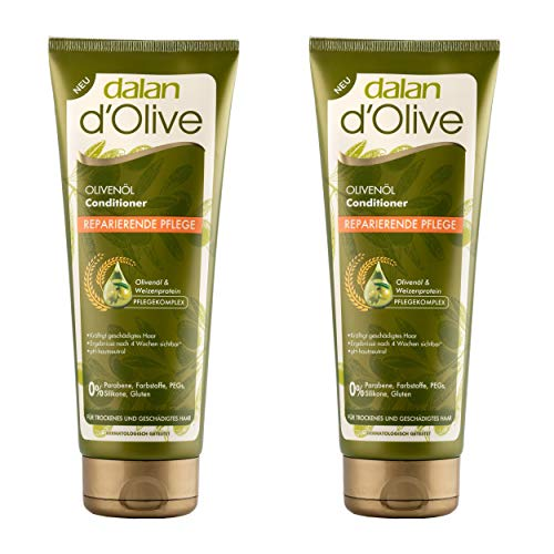 Dalan d'Olive Olivenöl Conditioner Reparierende Pflege 2er Pack (2 x 200 ml)