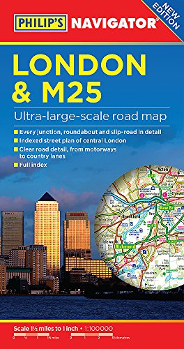 Philip's London and M25 Navigator Road Map (Philips Road Map)