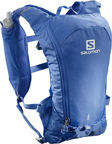 Salomon AGILE 6 SET Mochila ligera de trail running, Unisex, Incl. 2 botellas SoftFlask 500 ml, LC1417800, , Azul (Nebulas Blue)