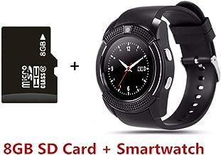 VIWIV Smart Watch V8 Bluetooth Smartwatch Reloj De Pulsera con Pantalla Táctil con Ranura para Cámara/Tarjeta SIM, Reloj Inteligente A Prueba De Agua DZ09 Y1 VS M2 A1,15
