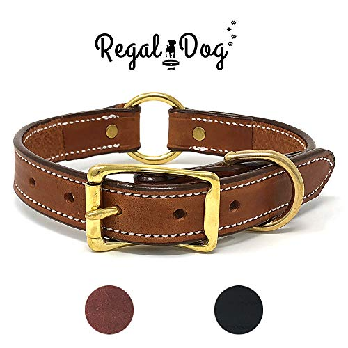 Medium Black Leather Dog Collar with Soft Pink Suede Leather Inner Lining