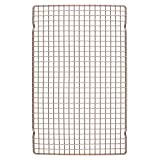 CHEFMADE Baking and Cooling Rack, 16.3-Inch Non-Stick Bold-Grid Design Rectangle Wire Rack for Oven Baking (Champagne Gold)