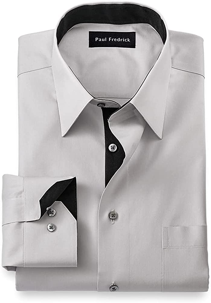 Limited time 100% quality warranty! trial price Paul Fredrick Men's Slim Fit Dress Shirt Solid Non-Iron Cotton
