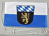Buddel-Bini Oberbayern Ober Bayern 15x25 cm Tischflagge in Profi - Qualität Tischfahne Autoflagge Bootsflagge Motorradflagge Mopedflagge