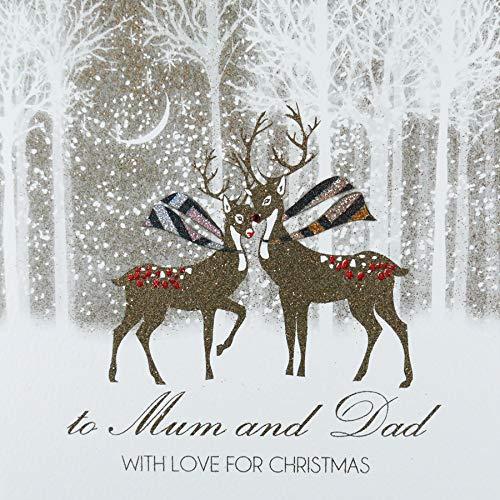 A mamma e papà con amore per Natale–Cartolina natalizia–ACV14
