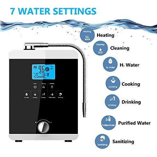 GXHGRASS Luftreiniger Wasserreiniger Maschinenfiltrationssystem PH 3.5-11 Alkalische Säure 5 Wassereinstellungen Selbstreinigender LCD-Touch-Wasserfilter bis zu 650 mV ORP 12000 Liter