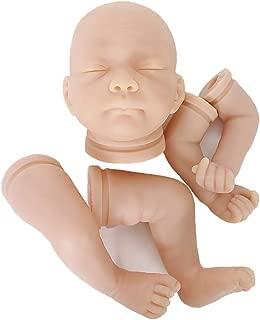 OtardDolls Unpainted Reborn Doll Kits( Head,Limbs) Soft Vinyl Reborn Doll Kits Newborn Baby Model Set DIY Art,18-Inch